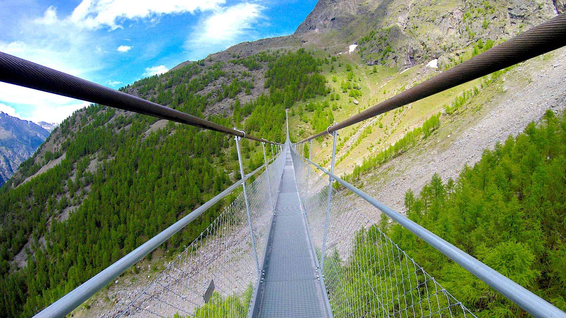 Charles Kuonen Suspension Bridge Rocks