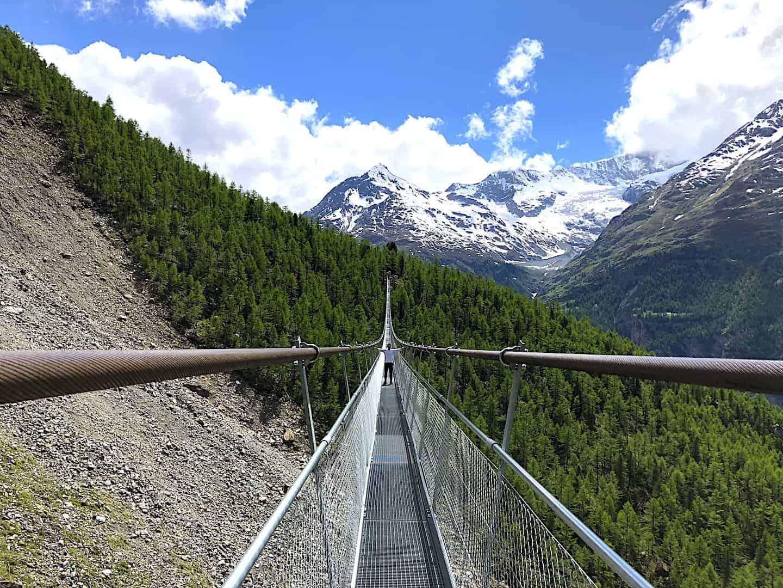 Charles Kuonen Suspension Bridge View