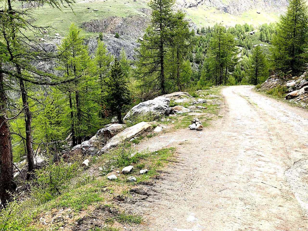 Five Lakes Hike Switchback