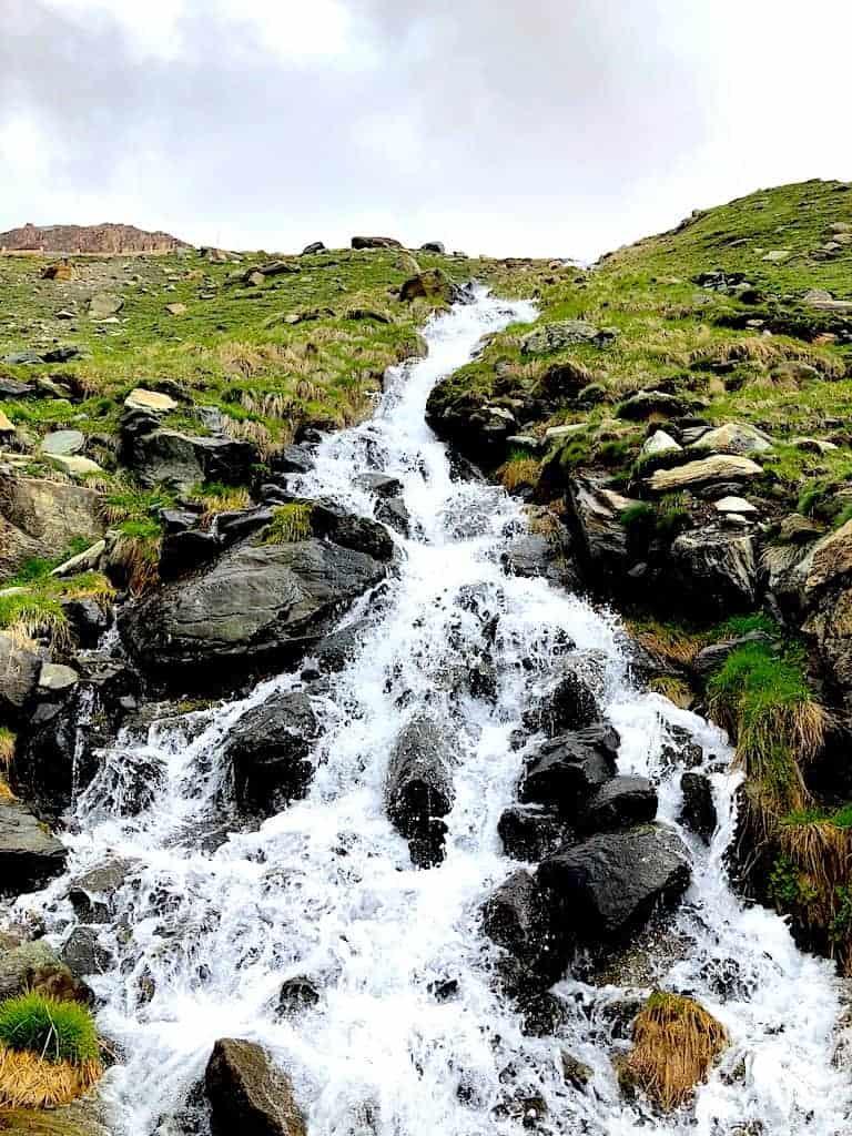Five Lakes Hike Waterfall
