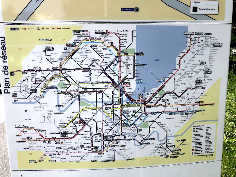 Geneva Bus Map