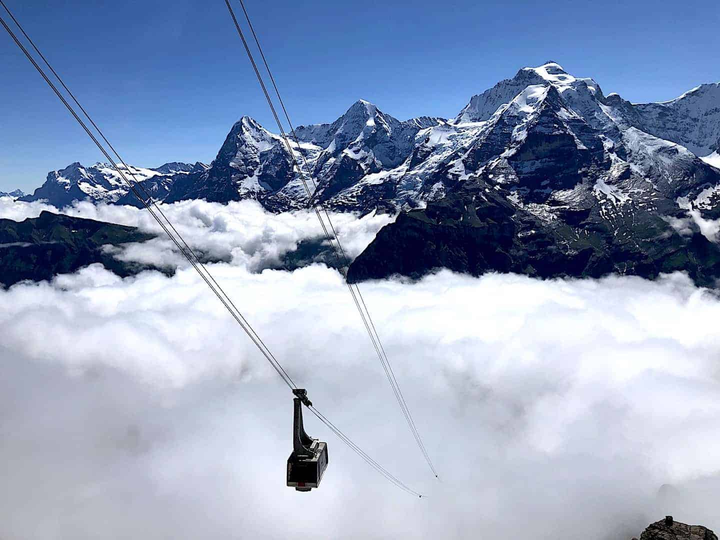 Schilthorn Cable Car Clouds