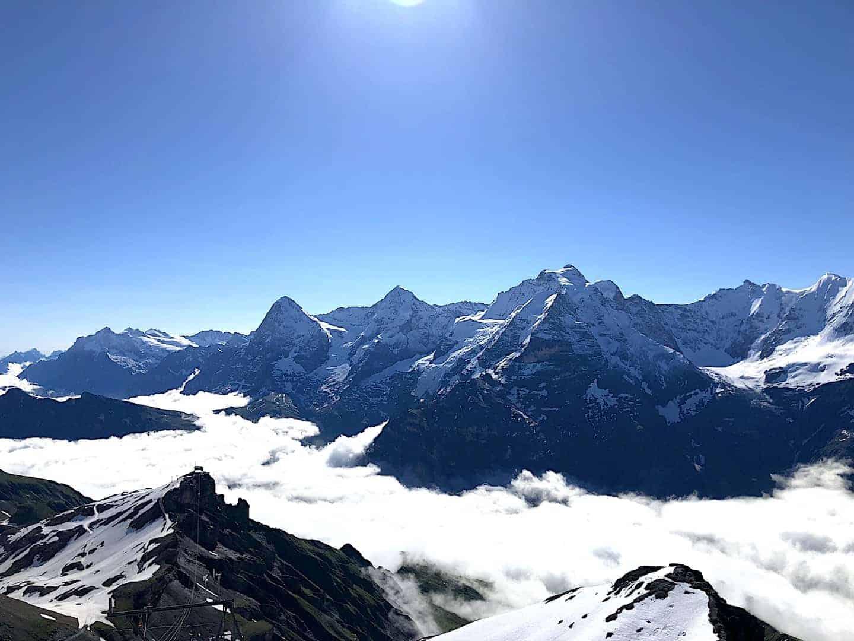 Schilthorn View Eiger Monch Jungfrau