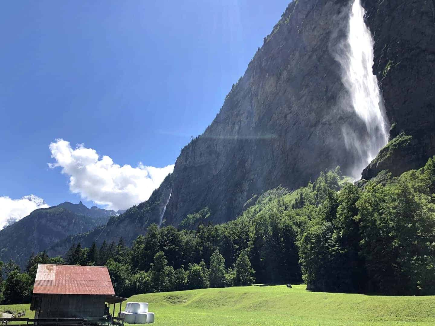 Lauterbrunnen Valley Waterfall Greenery