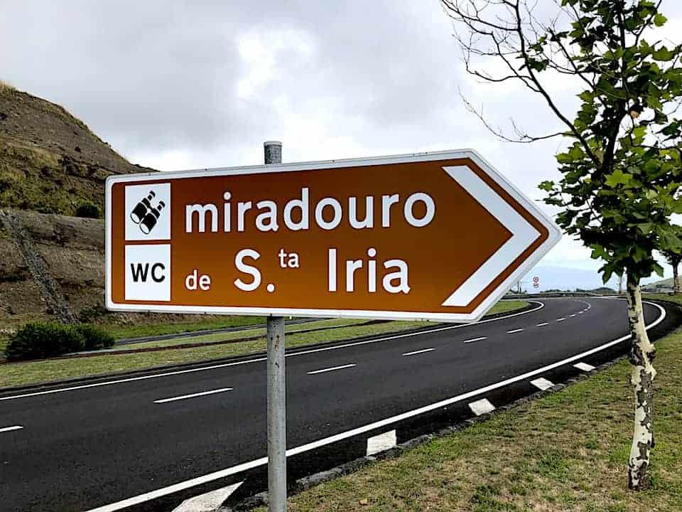 Miradouro Sign Azores
