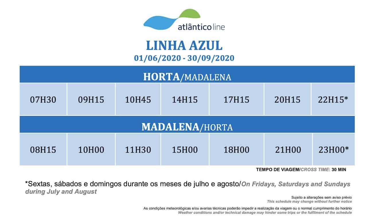 Blue Line Azores Ferry