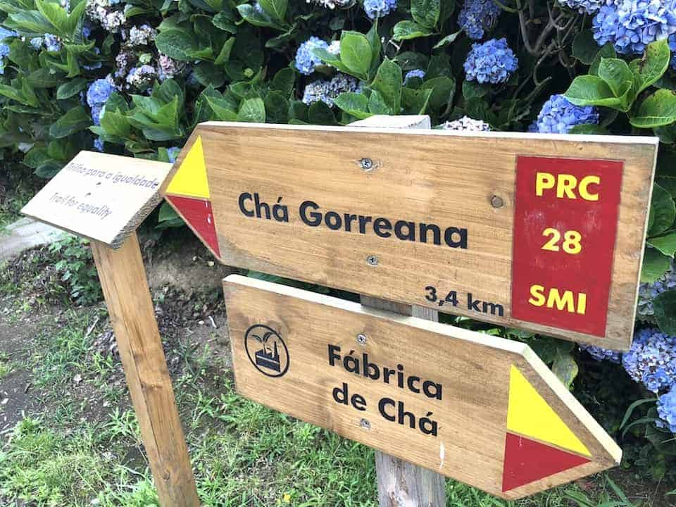 Cha Gorreana Trail Sign