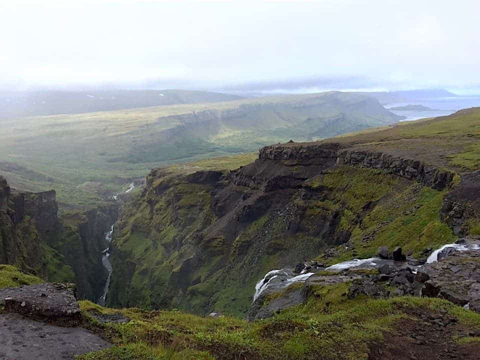 Glymur Waterfall Hike Landscape