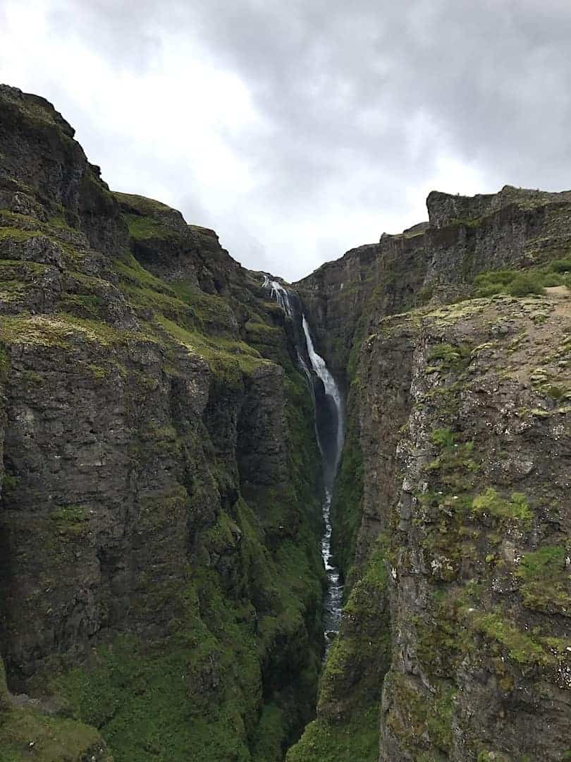 Glymur Waterfall Hike View