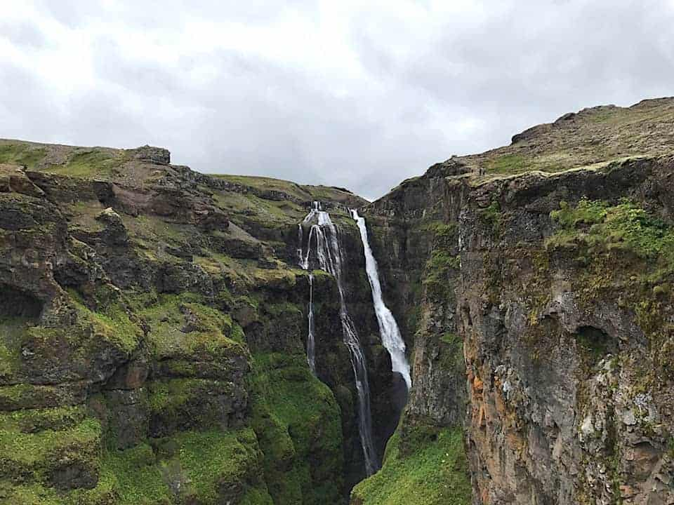 Glymur Waterfall View