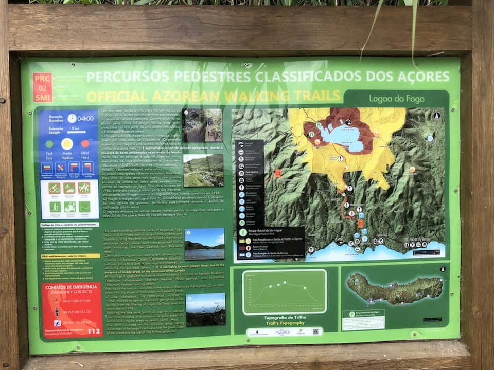 Lagoa do Fogo Hike Board