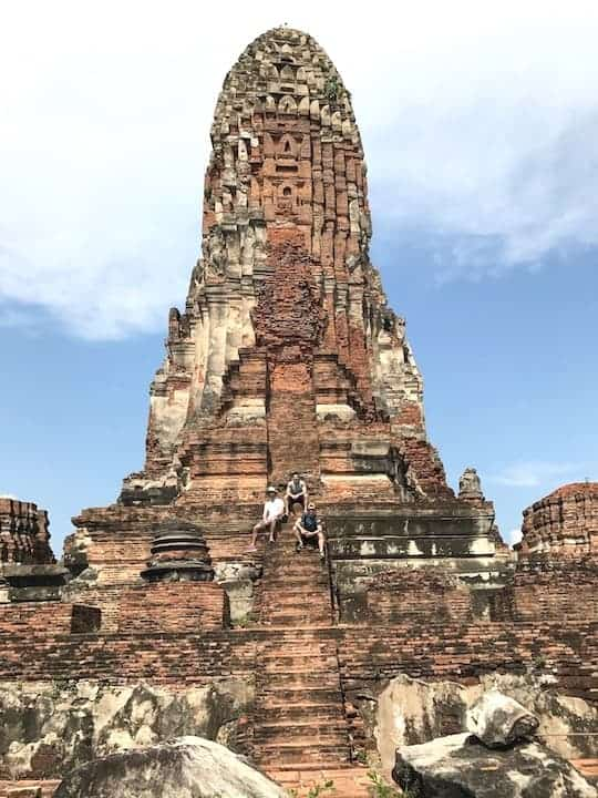 Wat Ratburana Steps