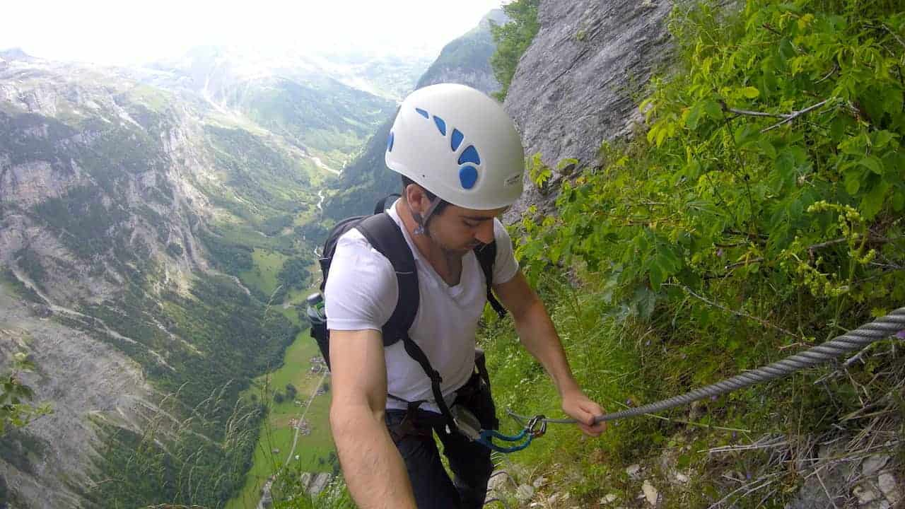 Via Ferrata Murren Gimmelwald Route Down