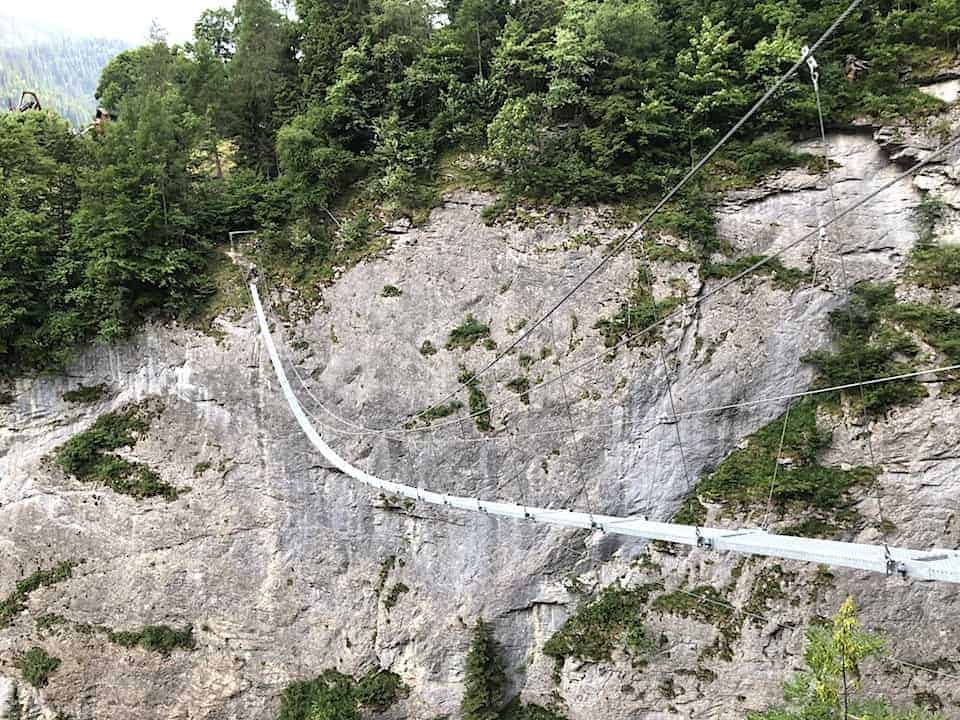 Via Ferrata Murren Suspension Bridge