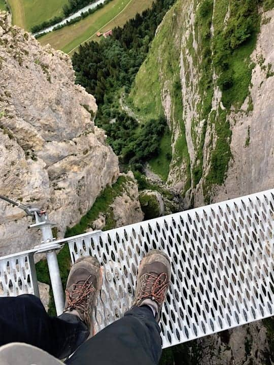 Via Ferrata Suspension Bridge Drop