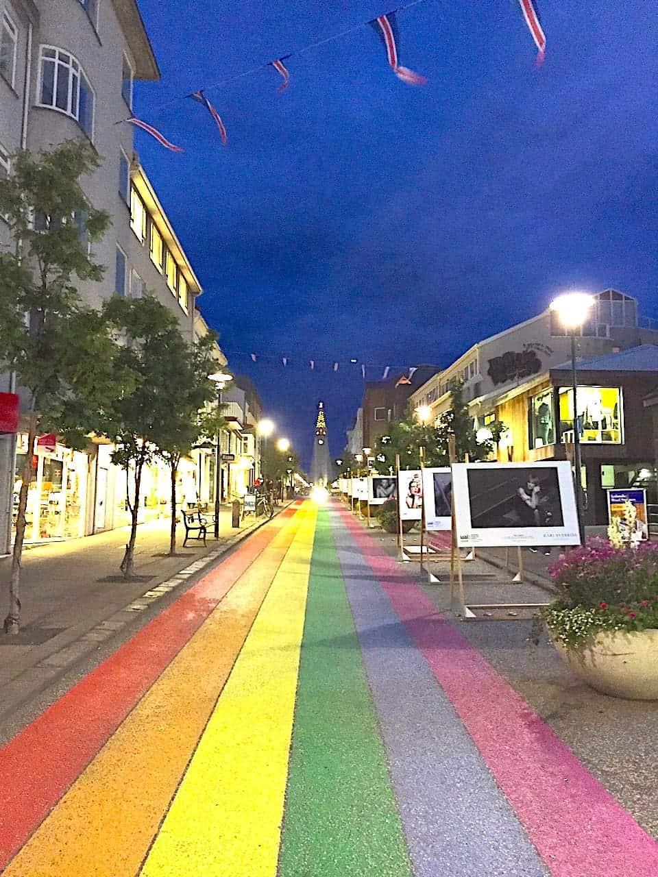 Reykjavik Rainbow Road