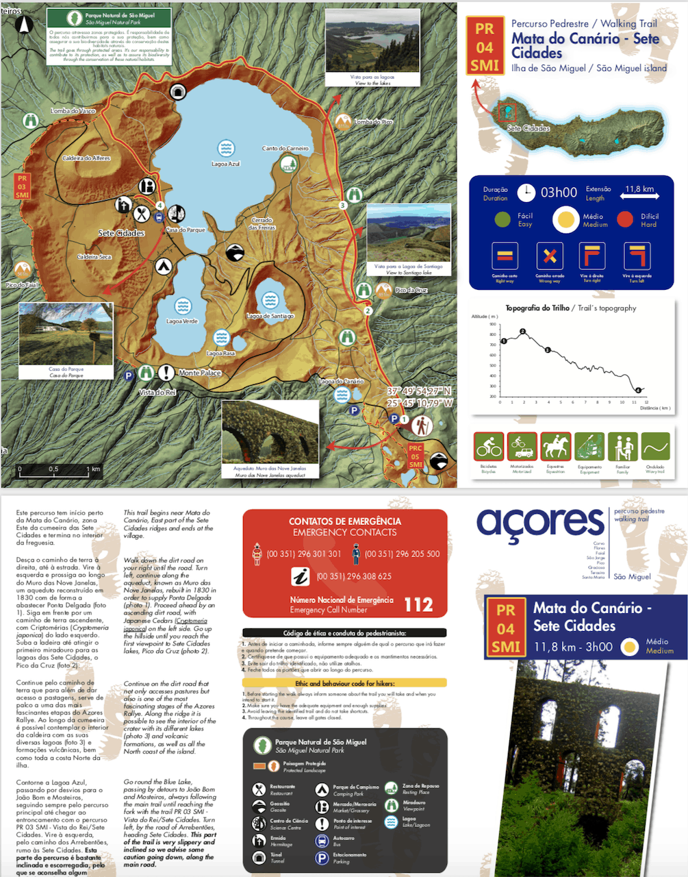 Azores Hiking Trail Leaflet