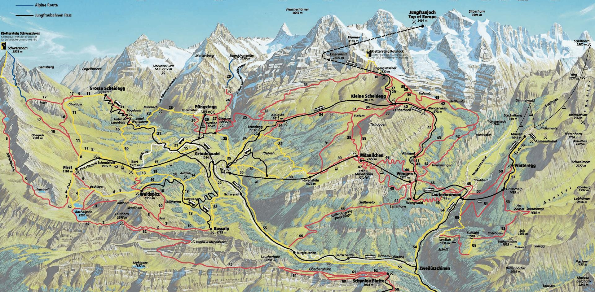 Jungfrau Hiking Trails