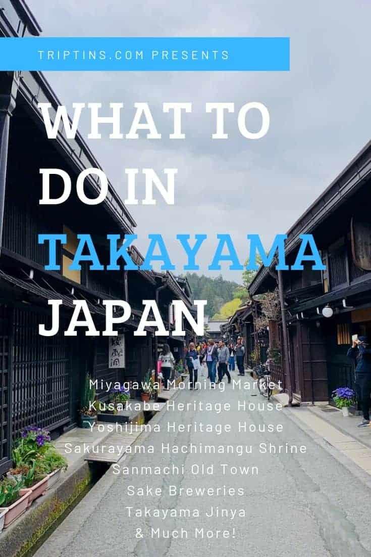 What to do in Takayama Itinerary