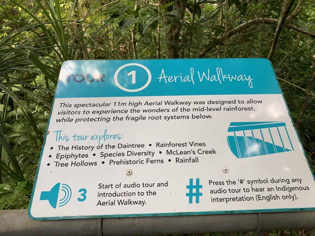 Aerial Walkway Sign