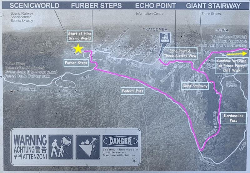 Blue Mountains Hike Map