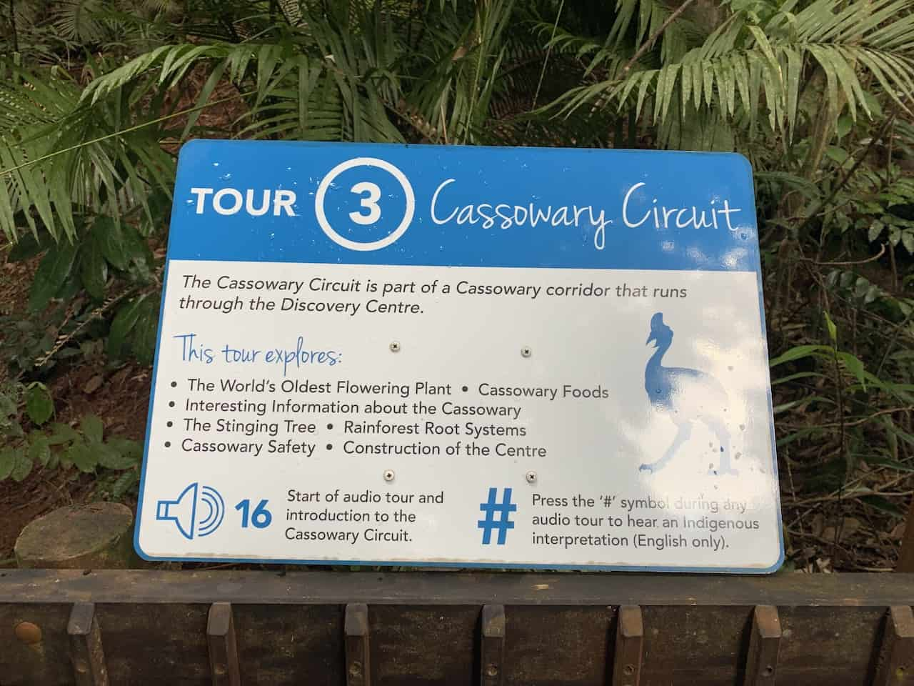 Cassowary Circuit Sign