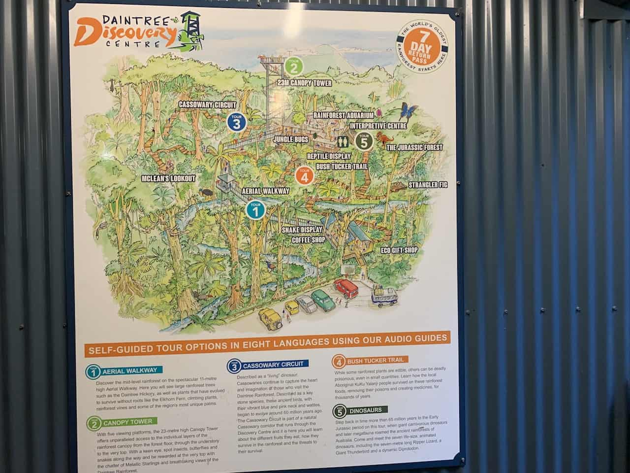 Daintree Discovery Centre Map