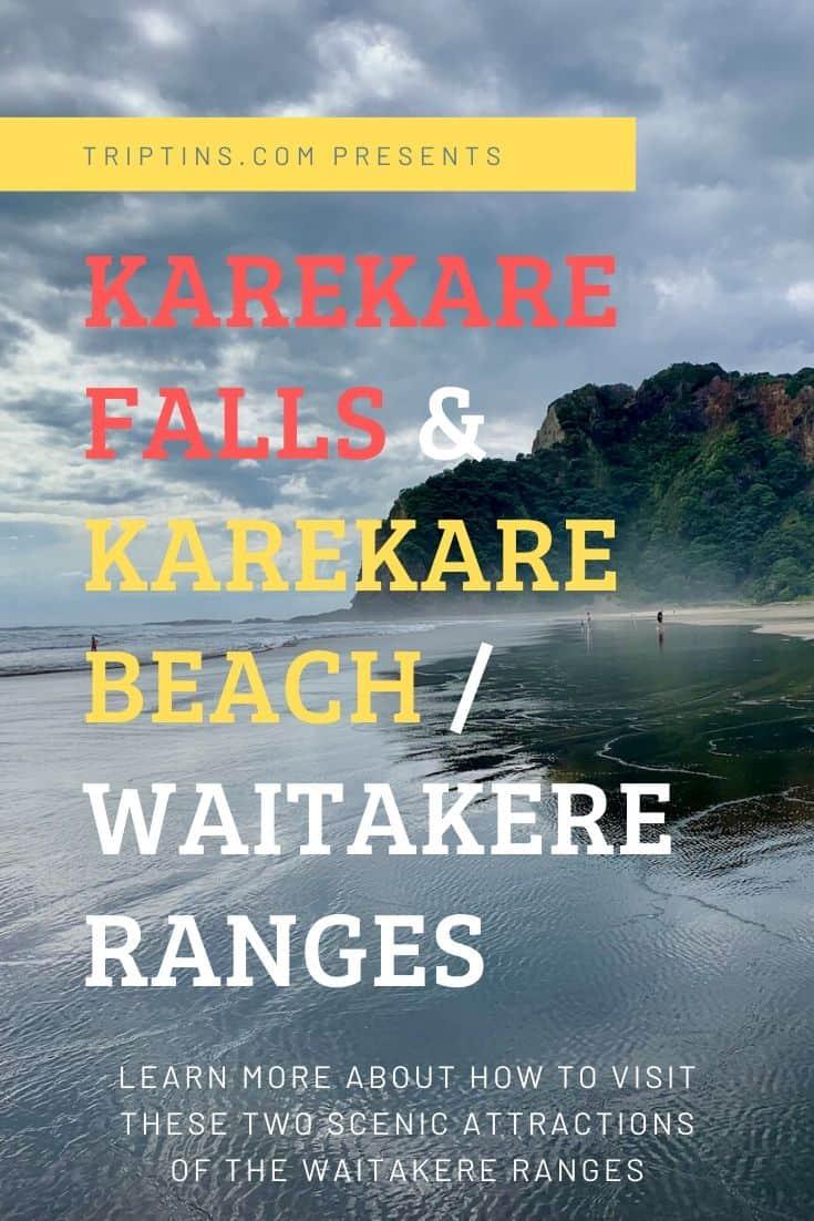 Karekare Beach and Karekare Falls