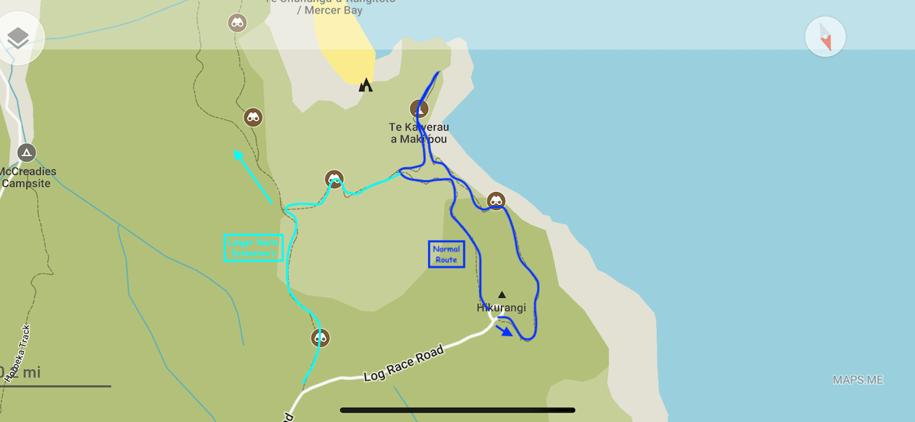 Mercer Bay Loop Map