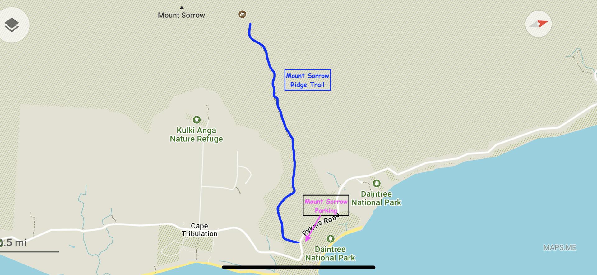 Mounnt Sorrow Map