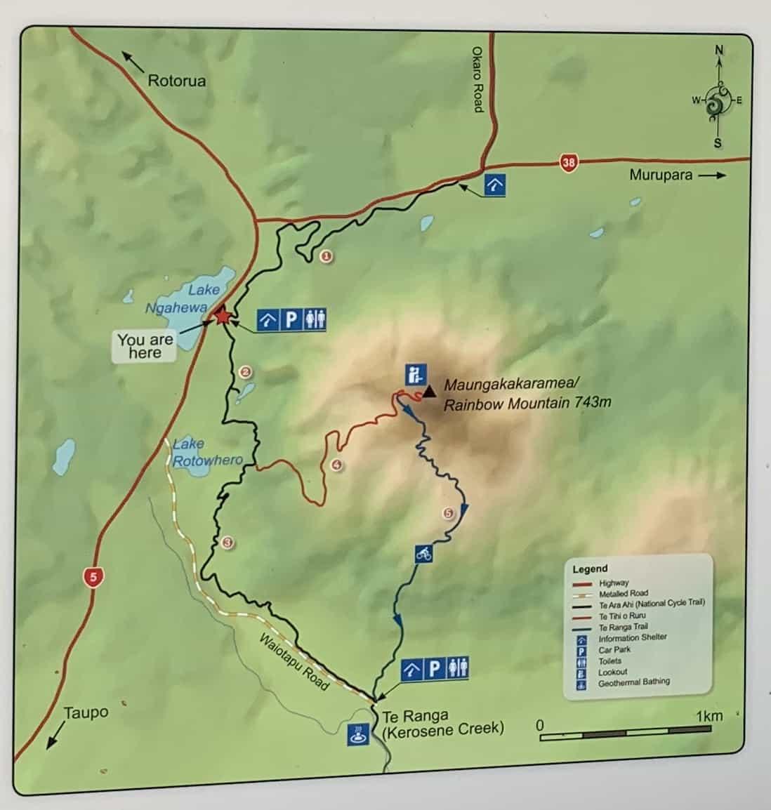 Rainbow Mountain Hiking Map