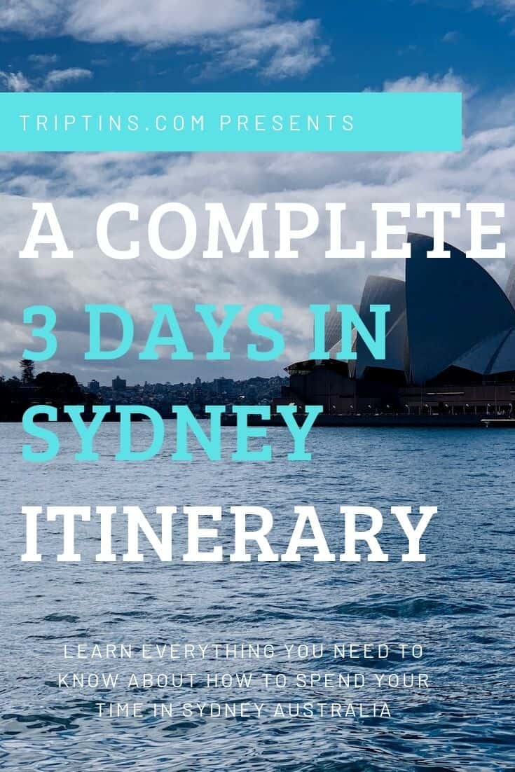 Sydney Itinerary 3 Days
