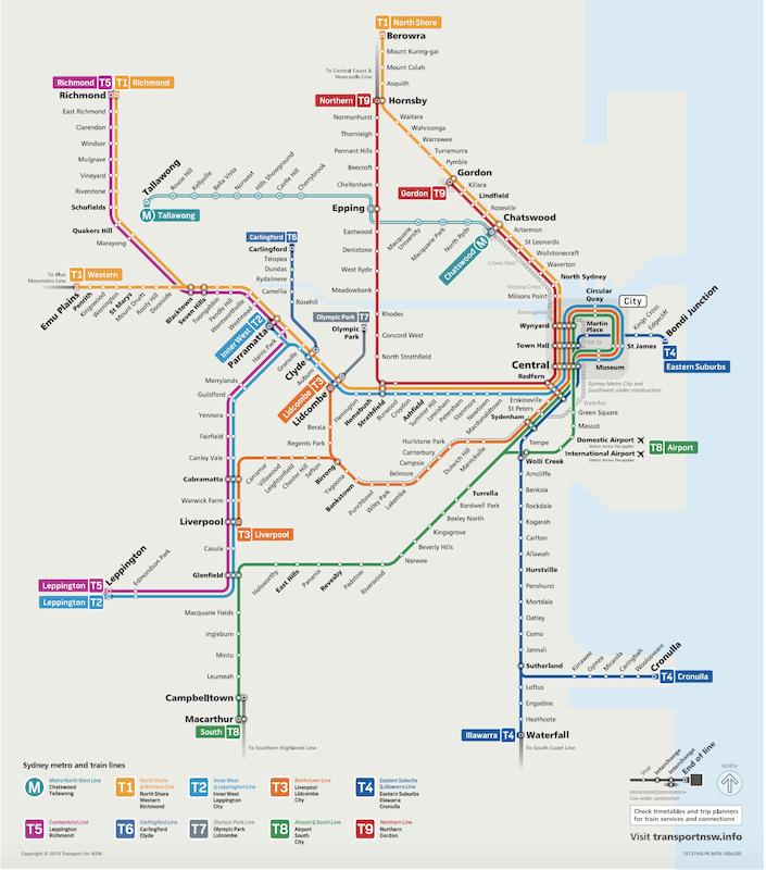 Sydney Rail Map