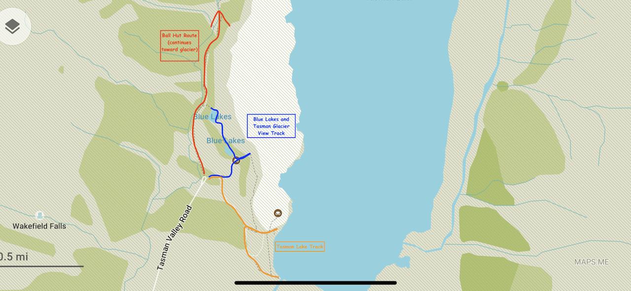 Tasman Glacier Car Park Hikes