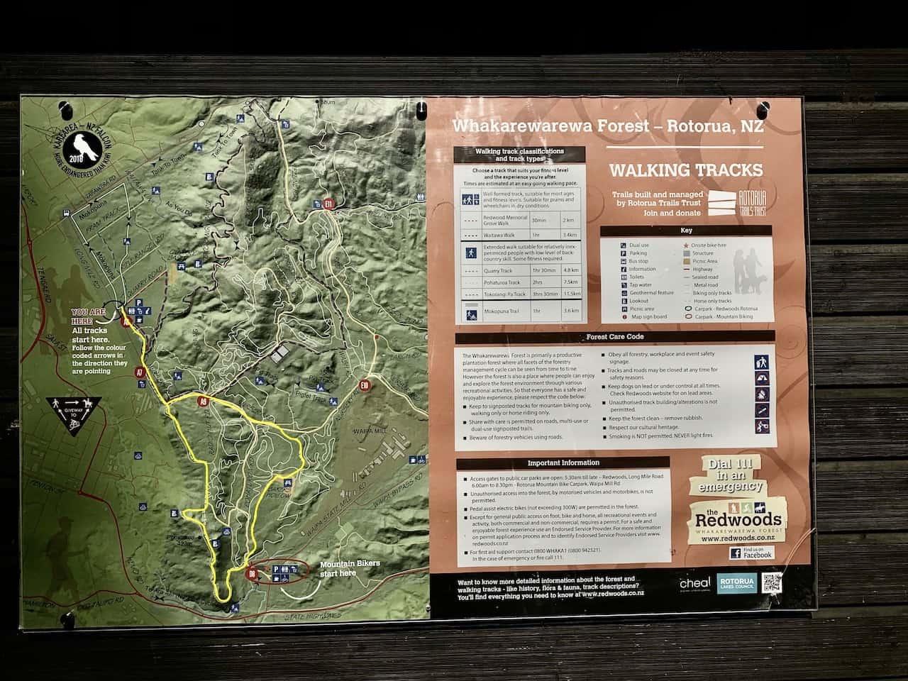 Hiking Rotorua Map