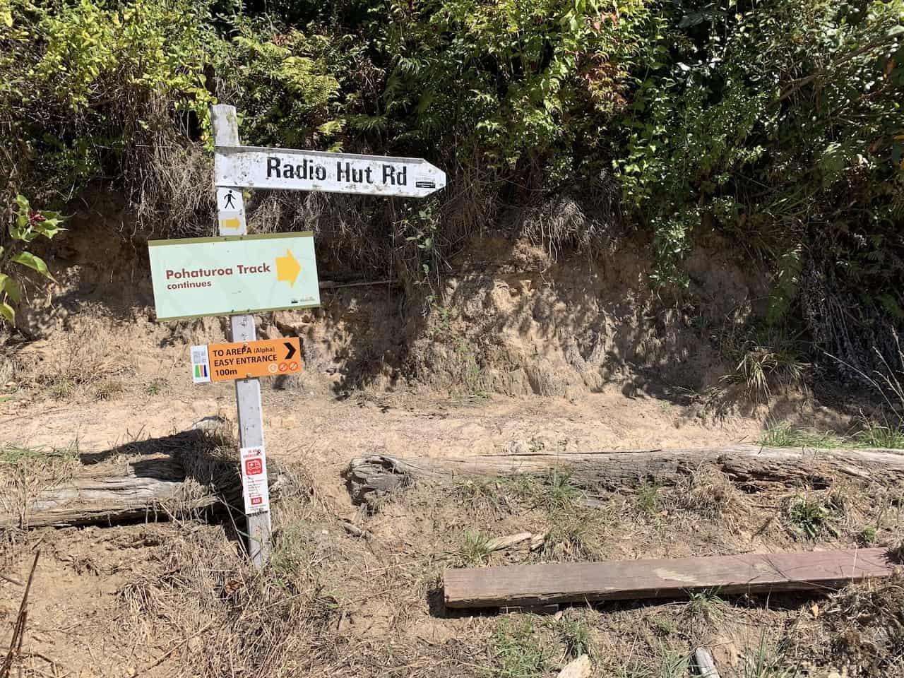 Pohaturoa Track Sign