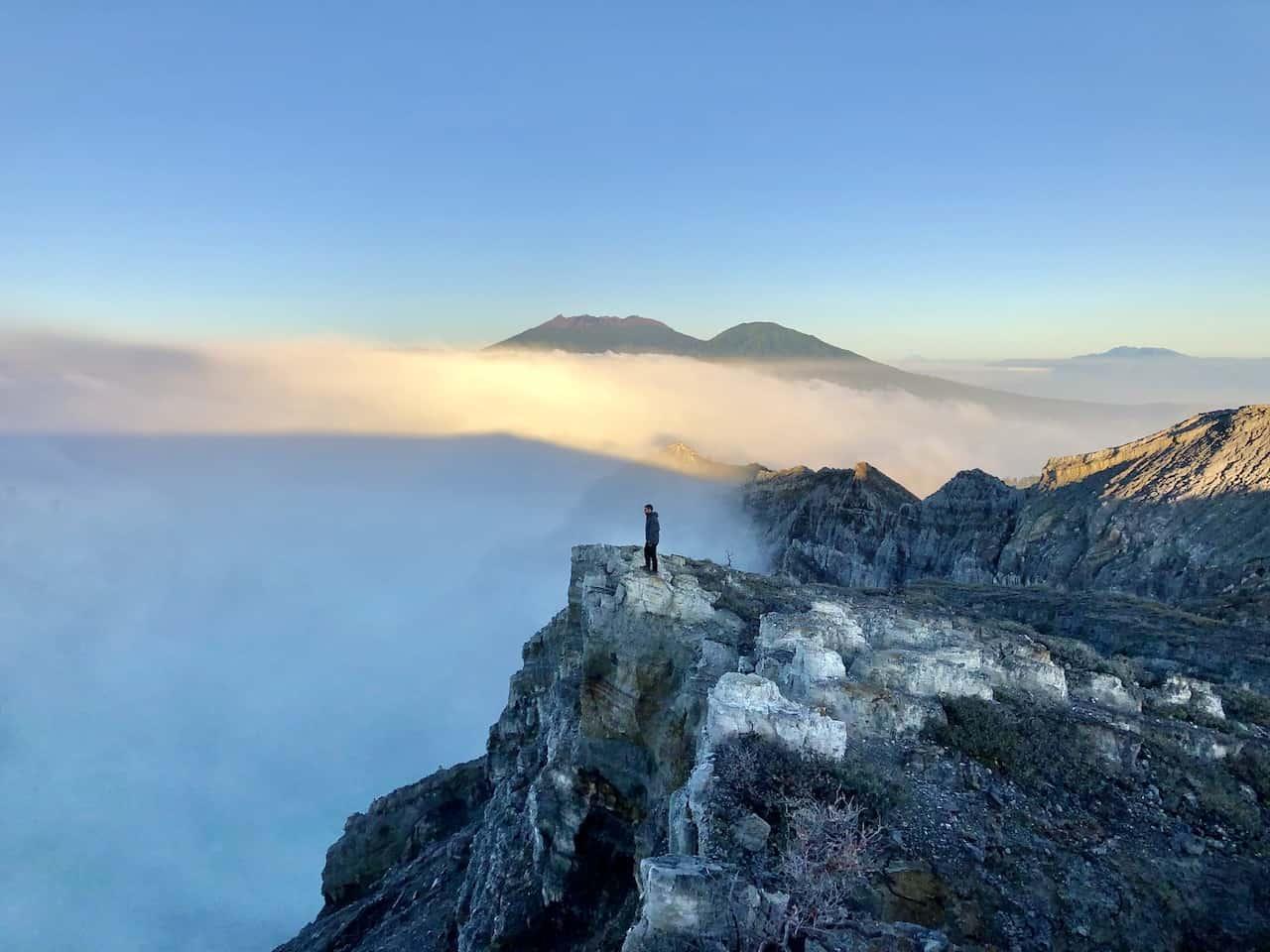 Ijen Volcano Clouds