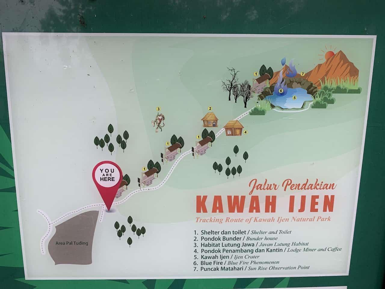 Kawah Ijen Map