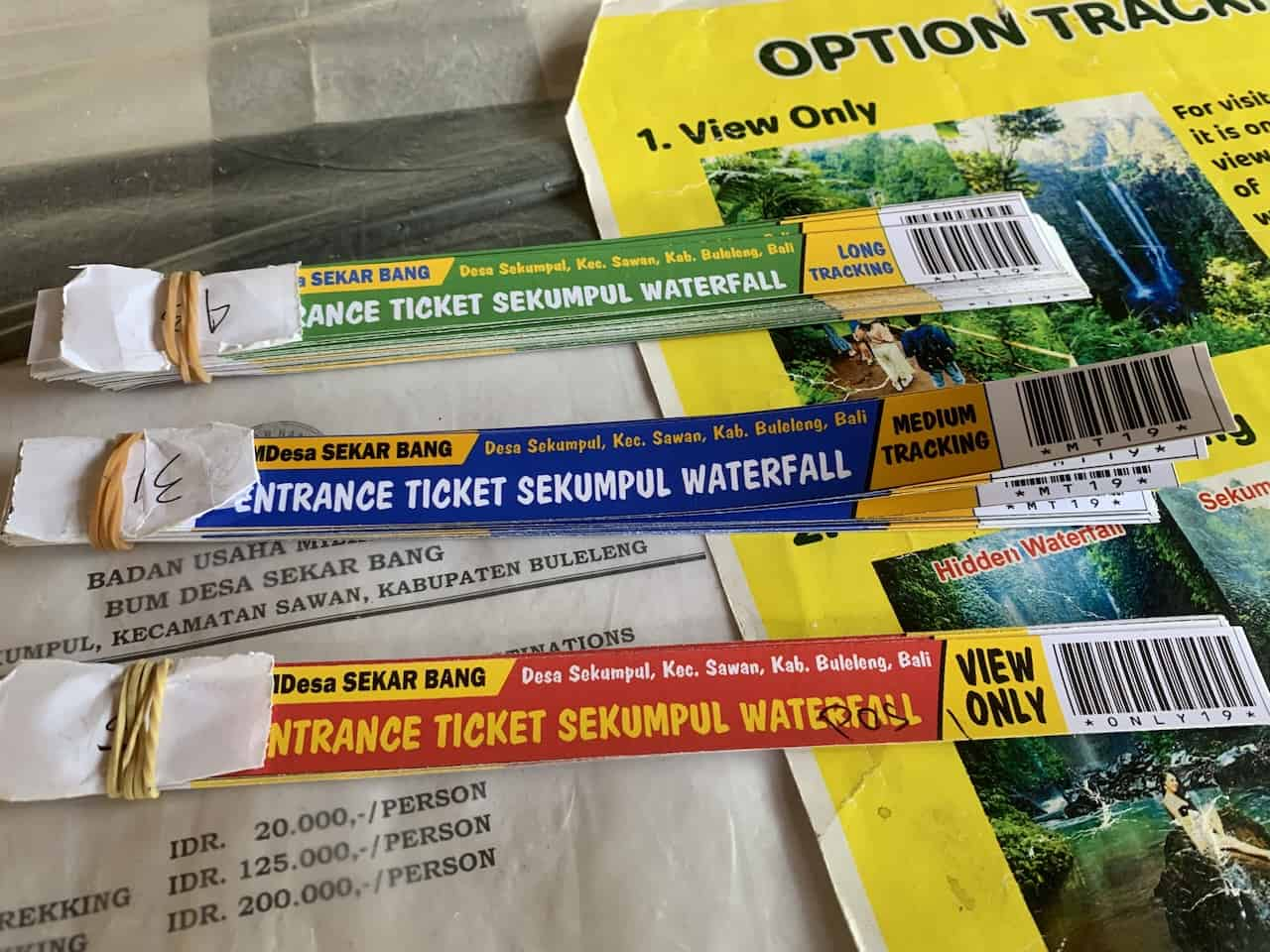 Sekumpul Entrance Tickets