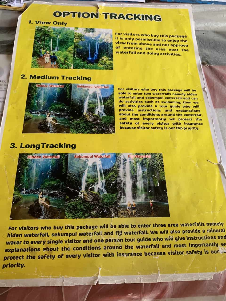 Sekumpul Trekking Options