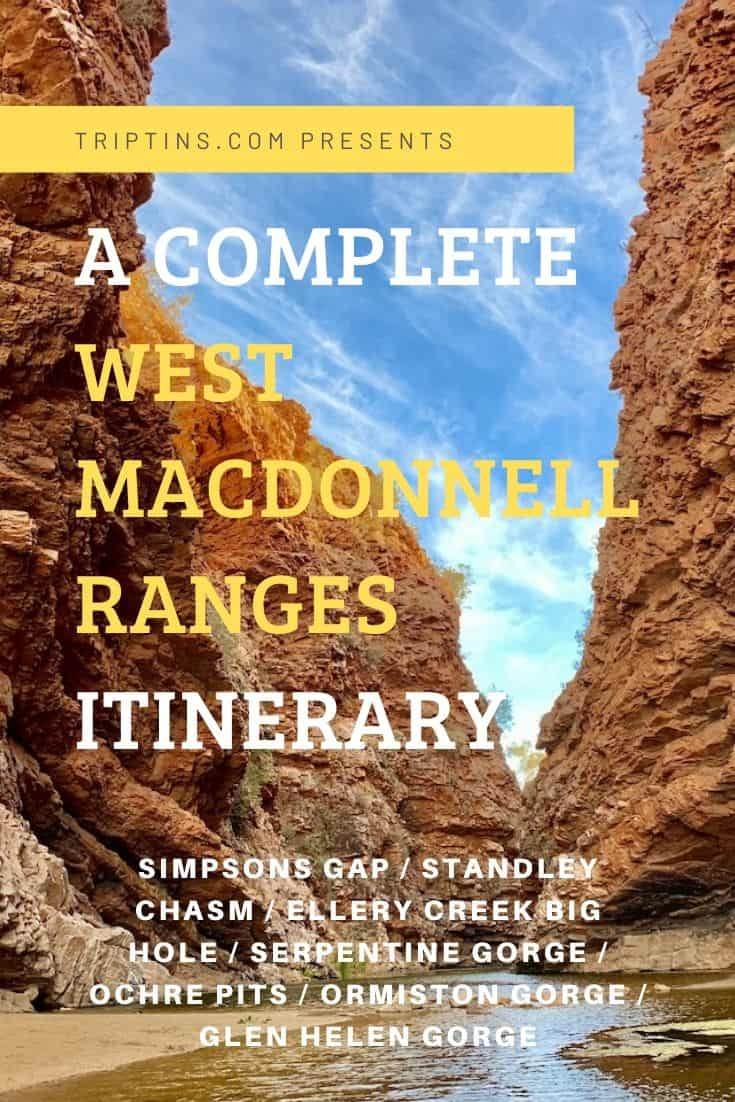 West MacDonnell Ranges Itinerary