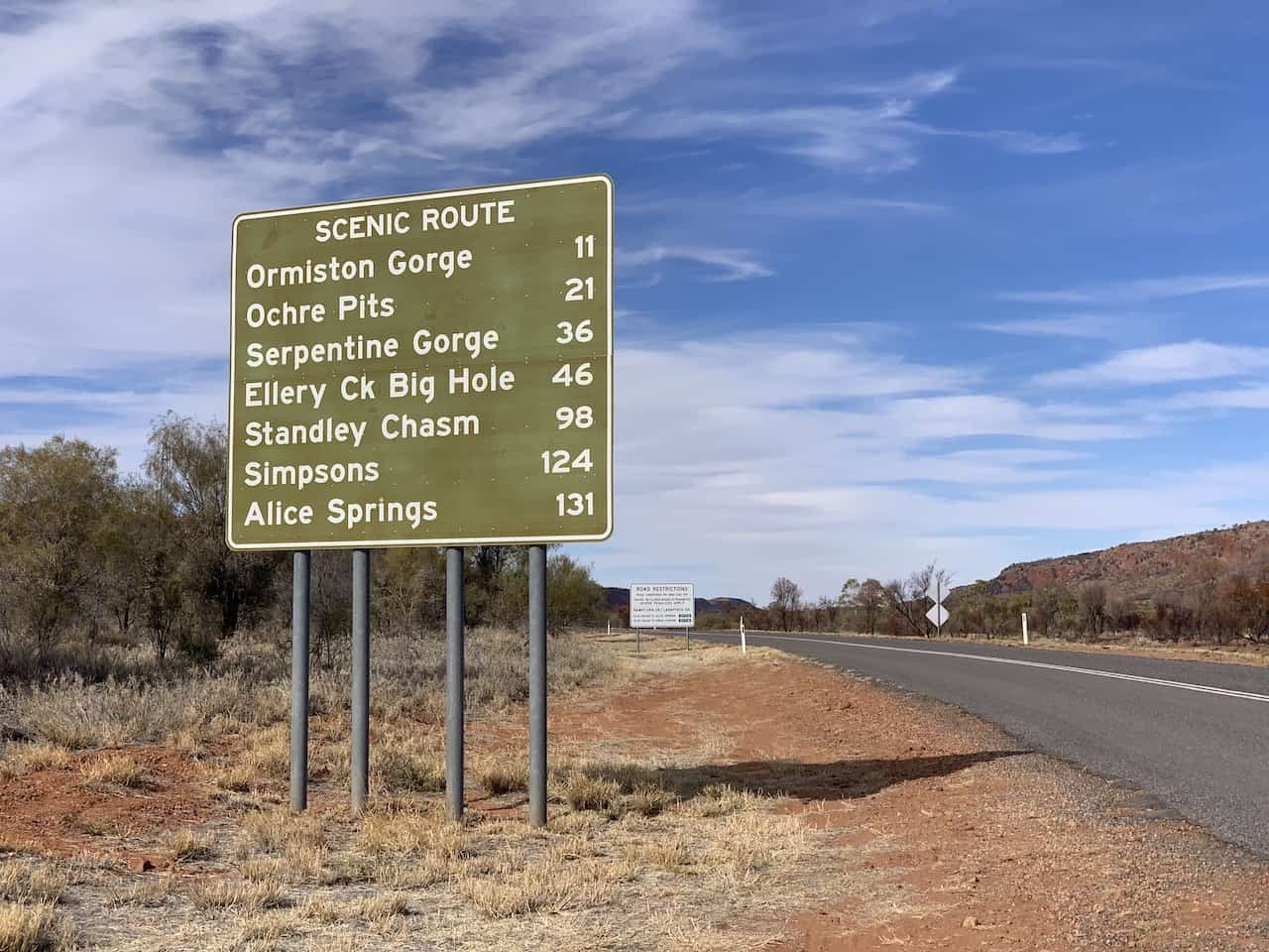 West MacDonnell Ranges Scenic Route
