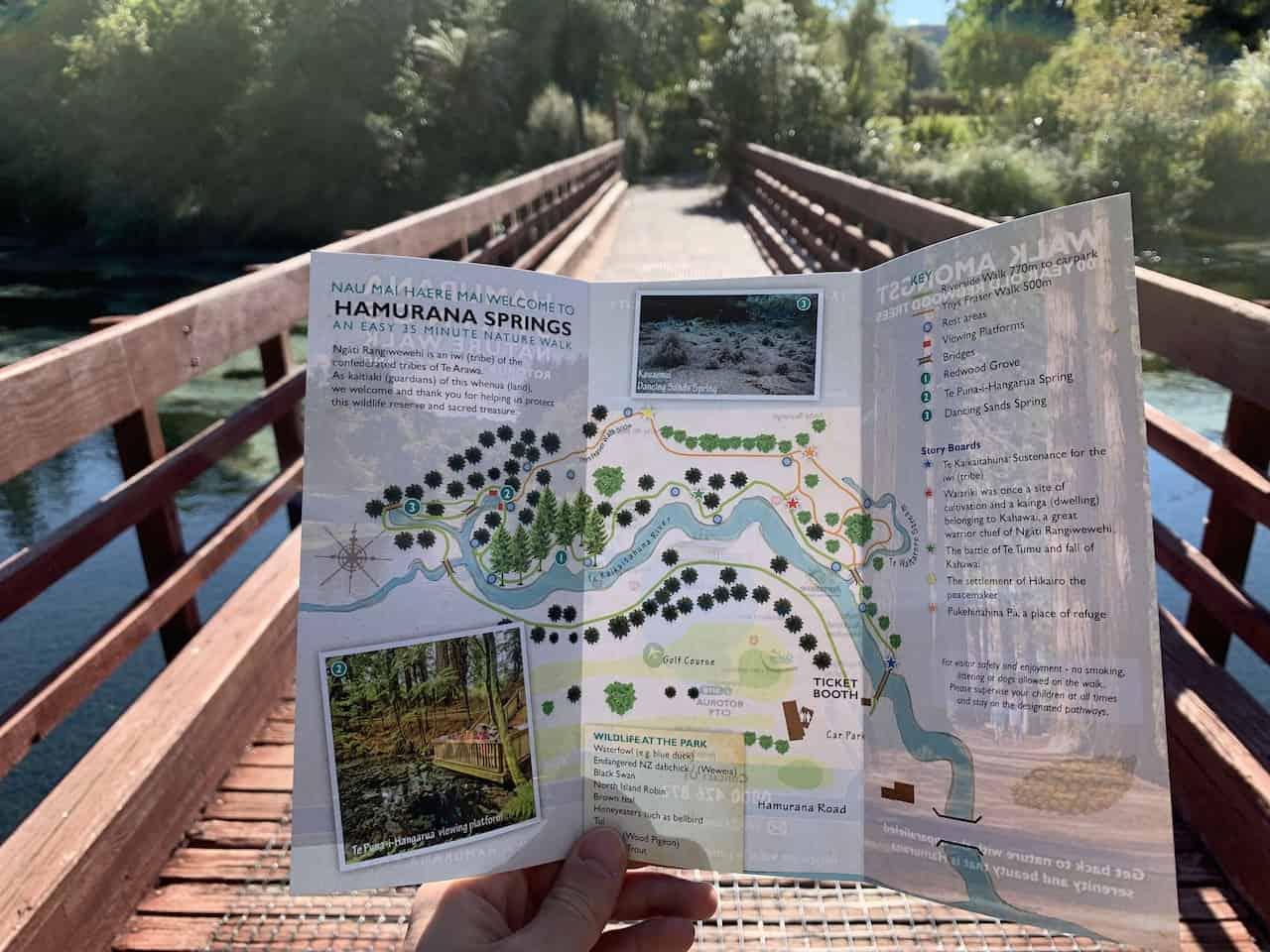Hamurana Springs Map