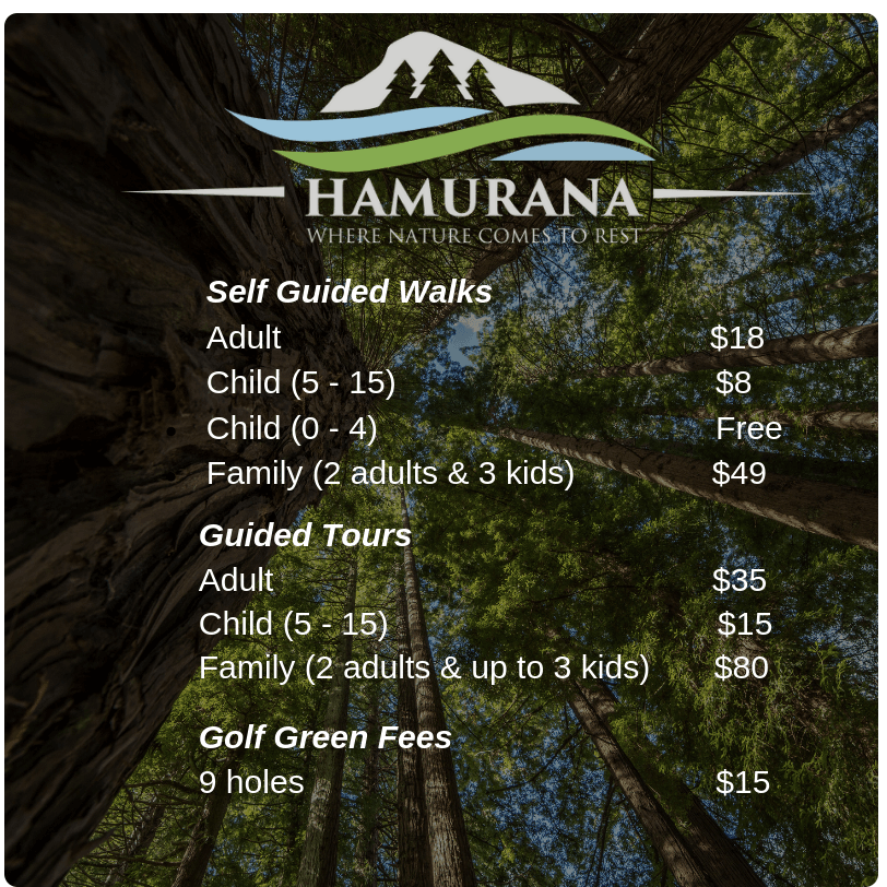 Hamurana Springs Ticket Cost