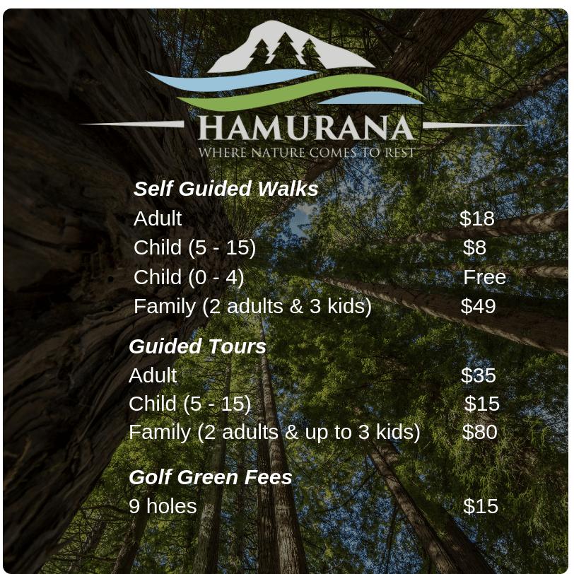 Hamurana Springs Ticket Cost