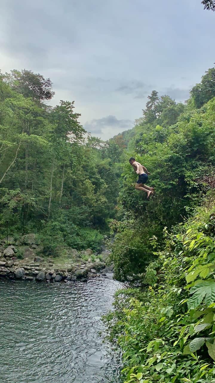 Pucuk Waterfall Jump