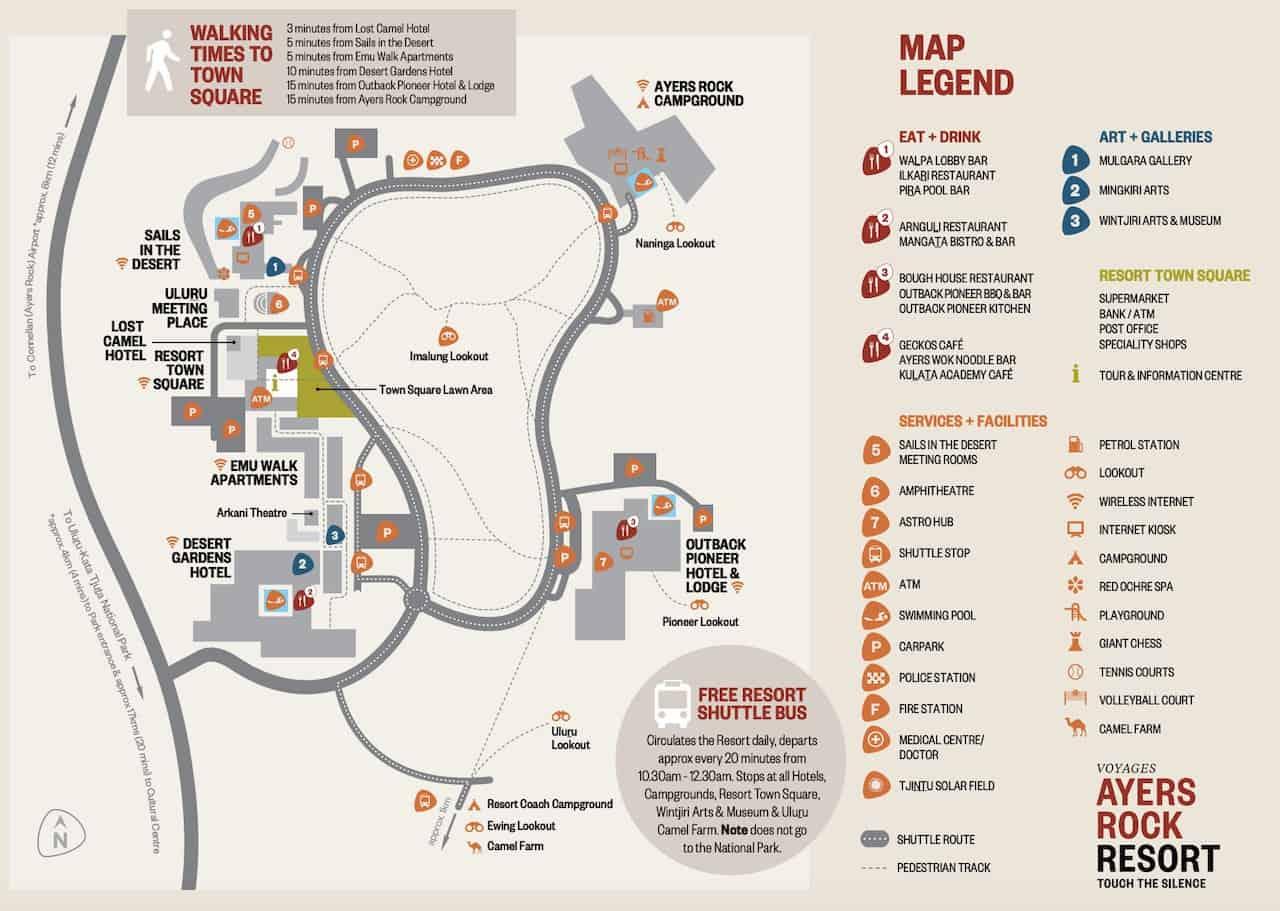 Ayers Rock Resort Map