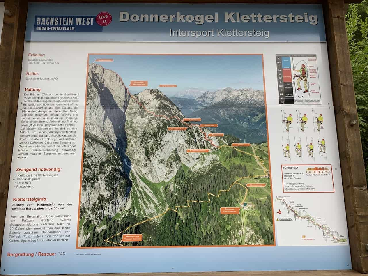 Donnerkogel Klettersteig Intersport Map