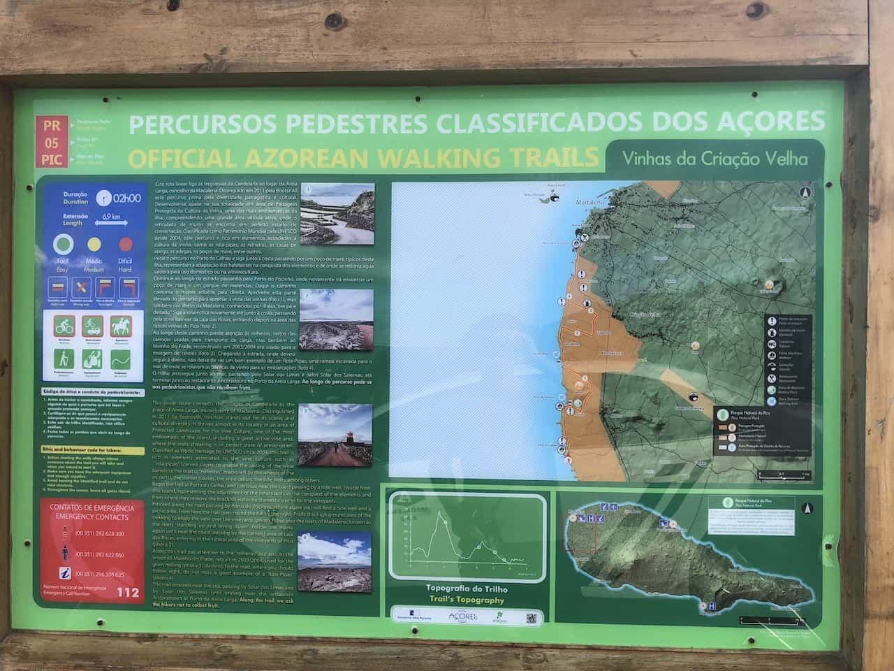 Vinhas da Criacao Velha Trail Board