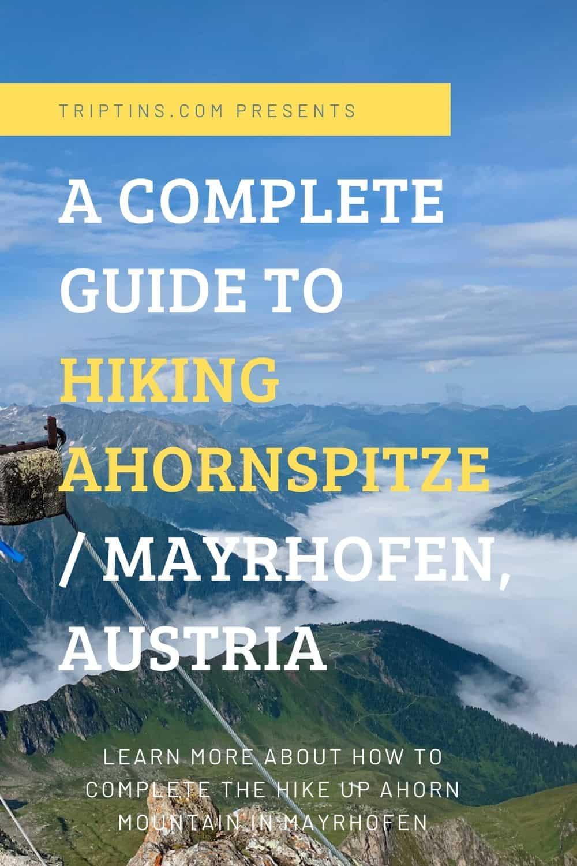 Ahornspitze Mountain Hike